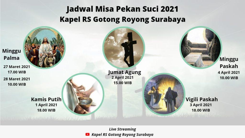 jadwal misa trihari suci 2021